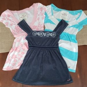 3 Hollister Tops Bundle- Size Small